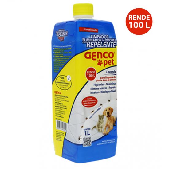 Desinfetante eliminador de odores e repelente - Genco pet